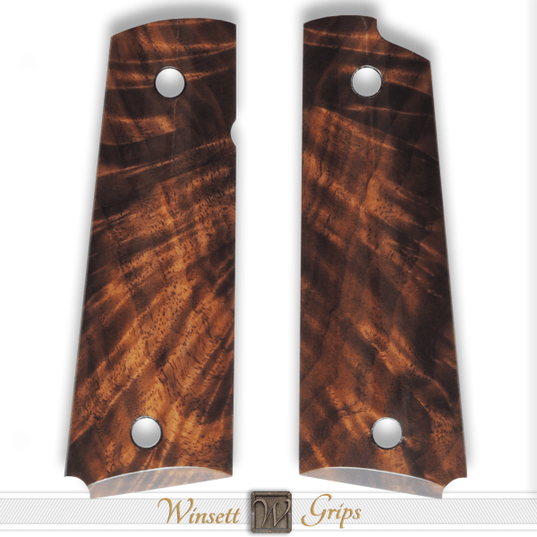 Winsett Grips 1911 Grips Figured Walnut