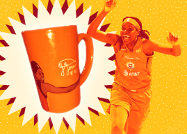 WNBA Merchandise Tales: The story behind the Jonquel Jones Hug Mug