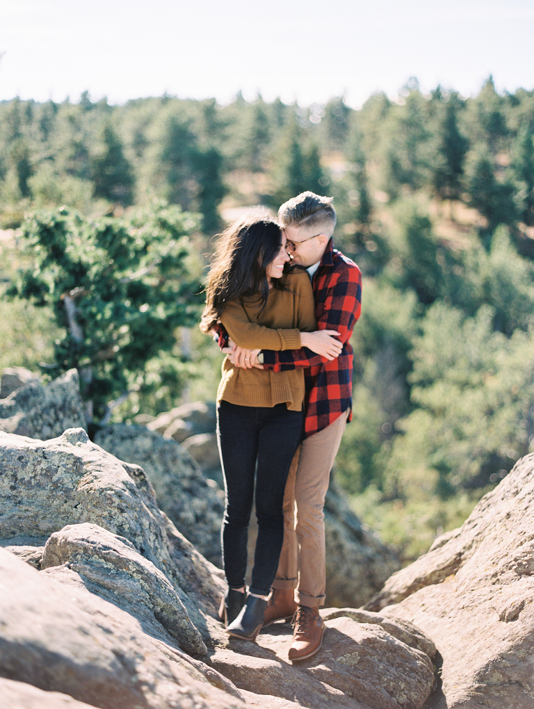 Lost Gulch Lookout Engagement Photos  Boulder Colorado