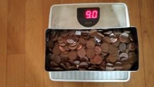 缶箱の10円玉重さ