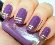 double striped nail art winstonia