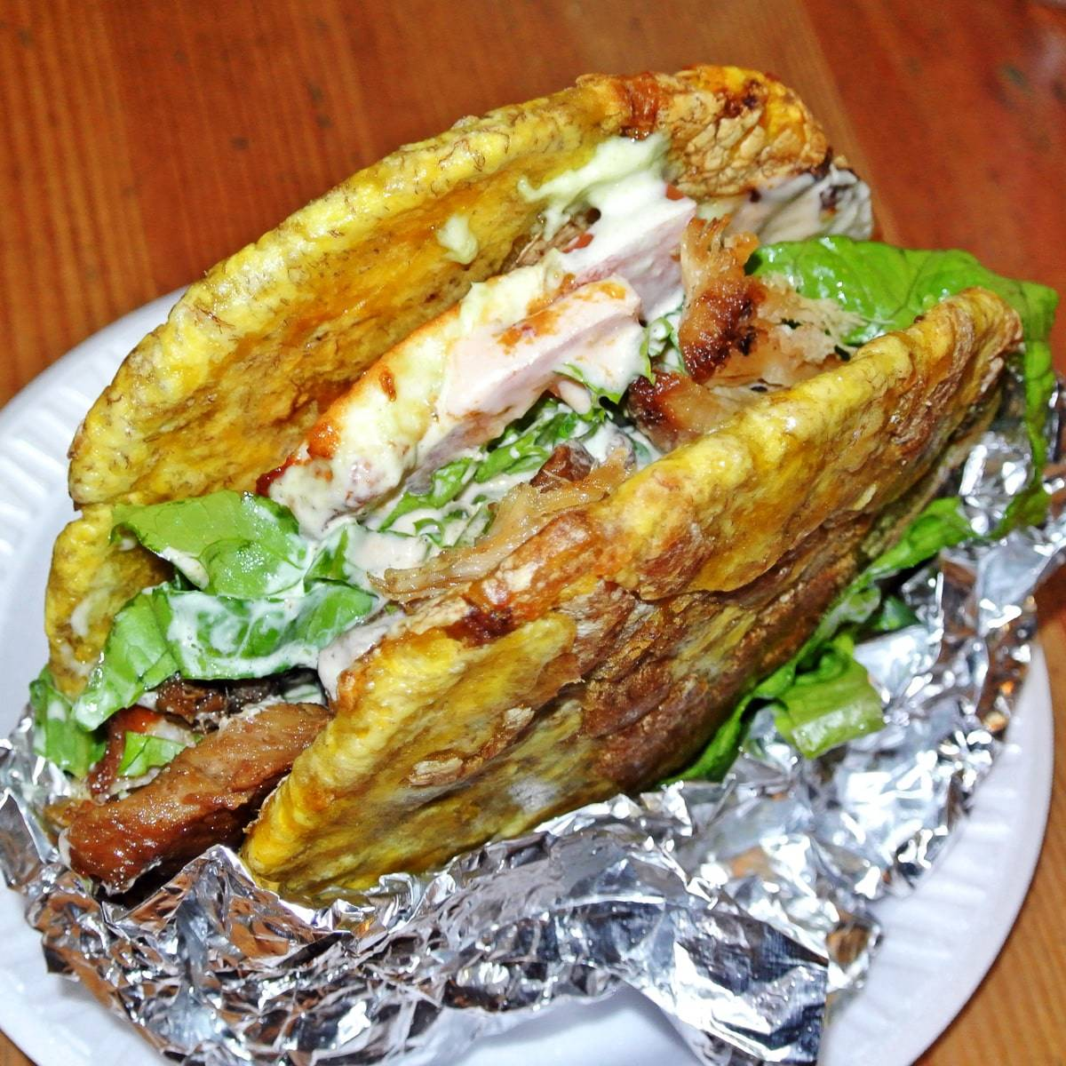 The Patacon Sandwich uses Plantains Instead of Bread at