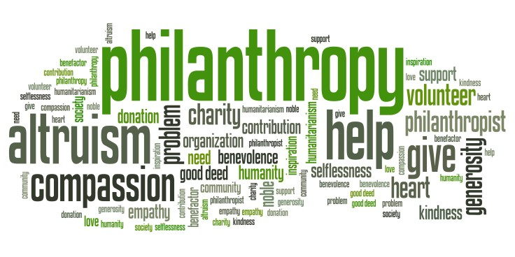 Philanthropy - words set