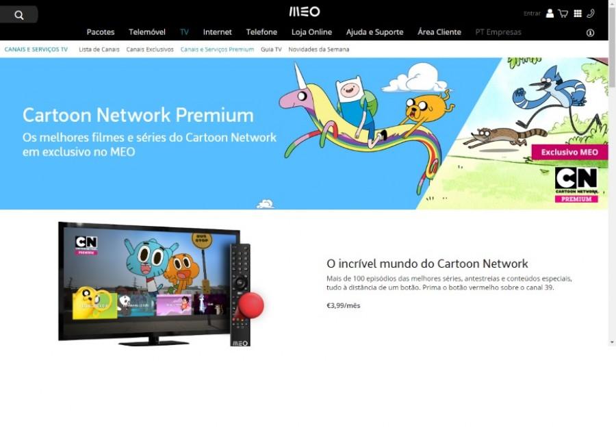 Cartoon Network Premium chega em exclusivo ao MEO