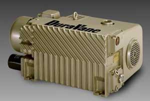 rotary vane vacuum pumps, single-stage, dry or oil-lubricated