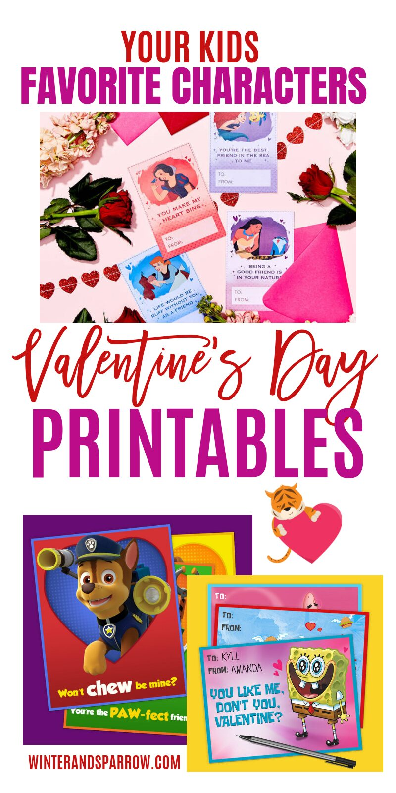 Free valentines day printables for kids and adults