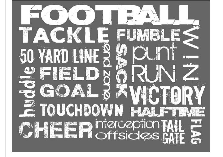 football subway art free football themed printables