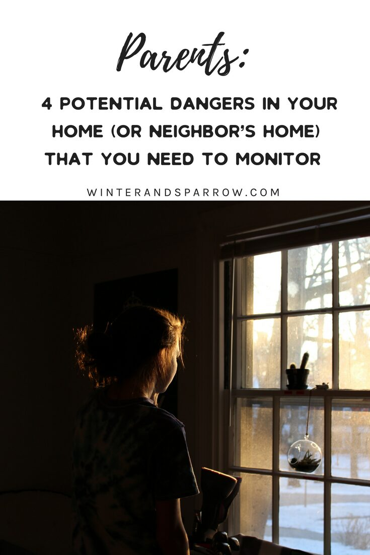 Parents: 4 Potential Dangers In Your Home (Or Neighbor's Home) That You Need To Monitor #ProtectYourKids
