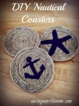 DIY Nautical-Themed Rope Coasters #crafts