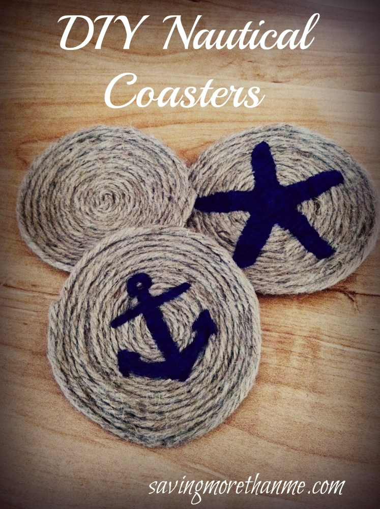 DIY Nautical Themed Coasters #crafts #DIY