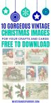 Vintage Christmas Images and Clipart: Holly Berry, Santa, and Ellen Clapsaddle