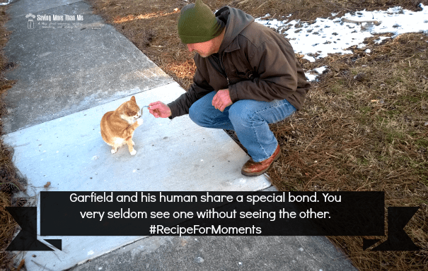 Garfield and his human #RecipeForMoments #ad