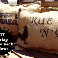 DIY Burlap Coffee Sack Pillows #burlap