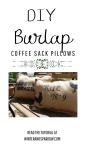 DIY Burlap Coffee Sack Pillows