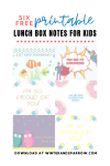 6 Free Printable Lunch Box Notes For Kids