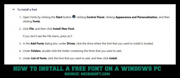 install a font on windows--15 Free Christmas Fonts + How To Install Fonts On A Windows PC  winterandsparrow.com