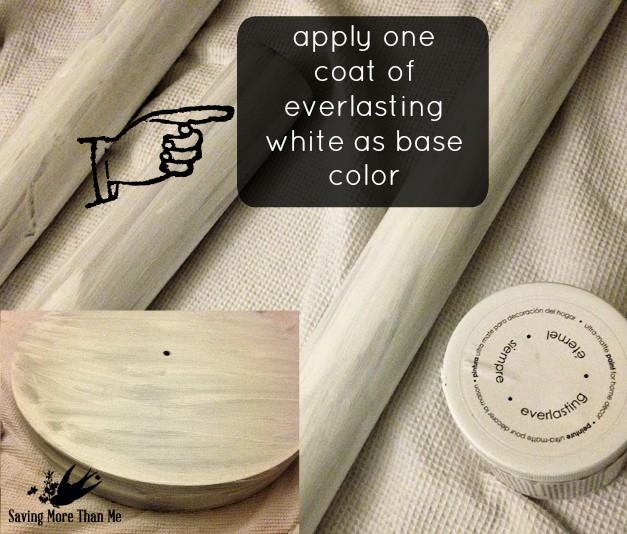 Coat Rack Makeover: From Drab To Shabby Chic @DecoArt_Inc #diy winterandsparrow.com