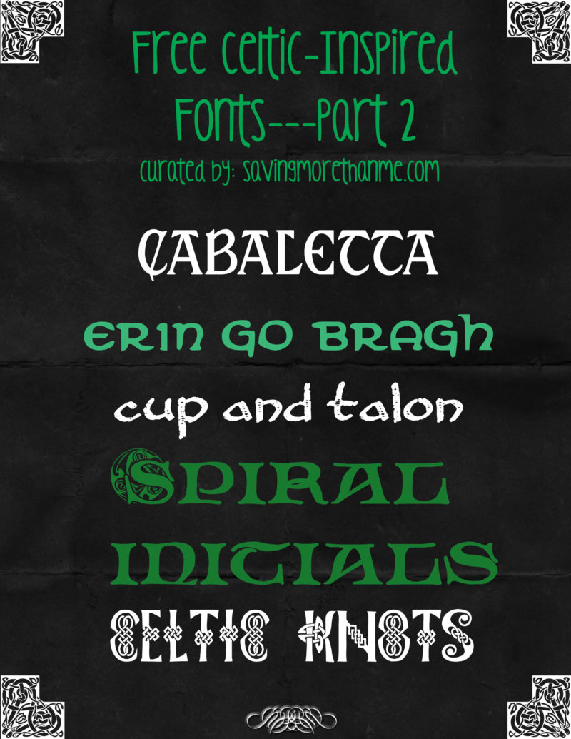 Celtic Design Basics Plus 11 Free Celtic-Inspired Fonts winterandsparrow.com #celtic #irish