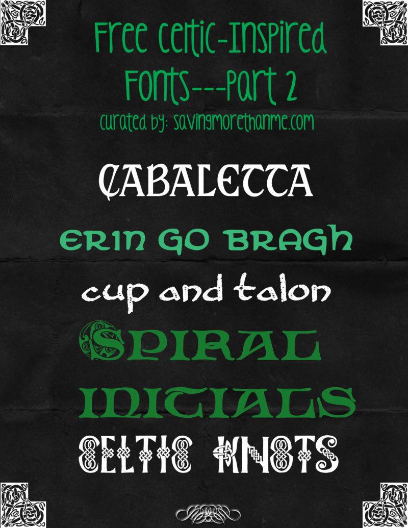 Celtic Design Basics Plus 11 Free Celtic-Inspired Fonts winterandsparrow.com #celtic #irish
