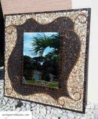DIY Mosaic Decorative Mirror!