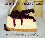 Delicious Cheesecake with Blueberry Topping