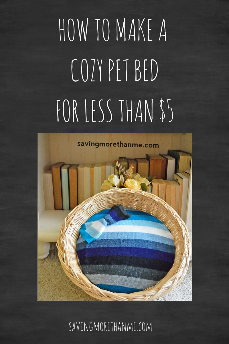 DIY: How To Make A Cozy Pet Bed For Less Than $5 [ad] @MuseCatFood #MyCatMyMuse