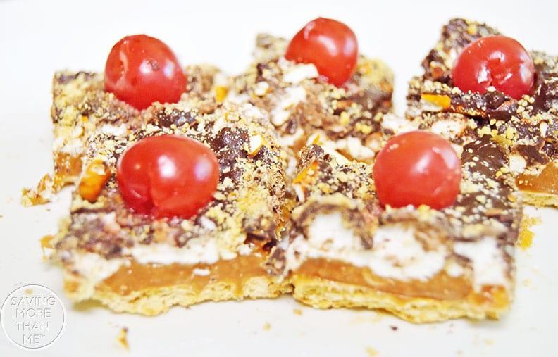 Chocolate Caramel Crunch Bars #recipes