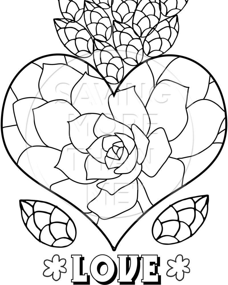 4 Free Valentine's Day Coloring Pages