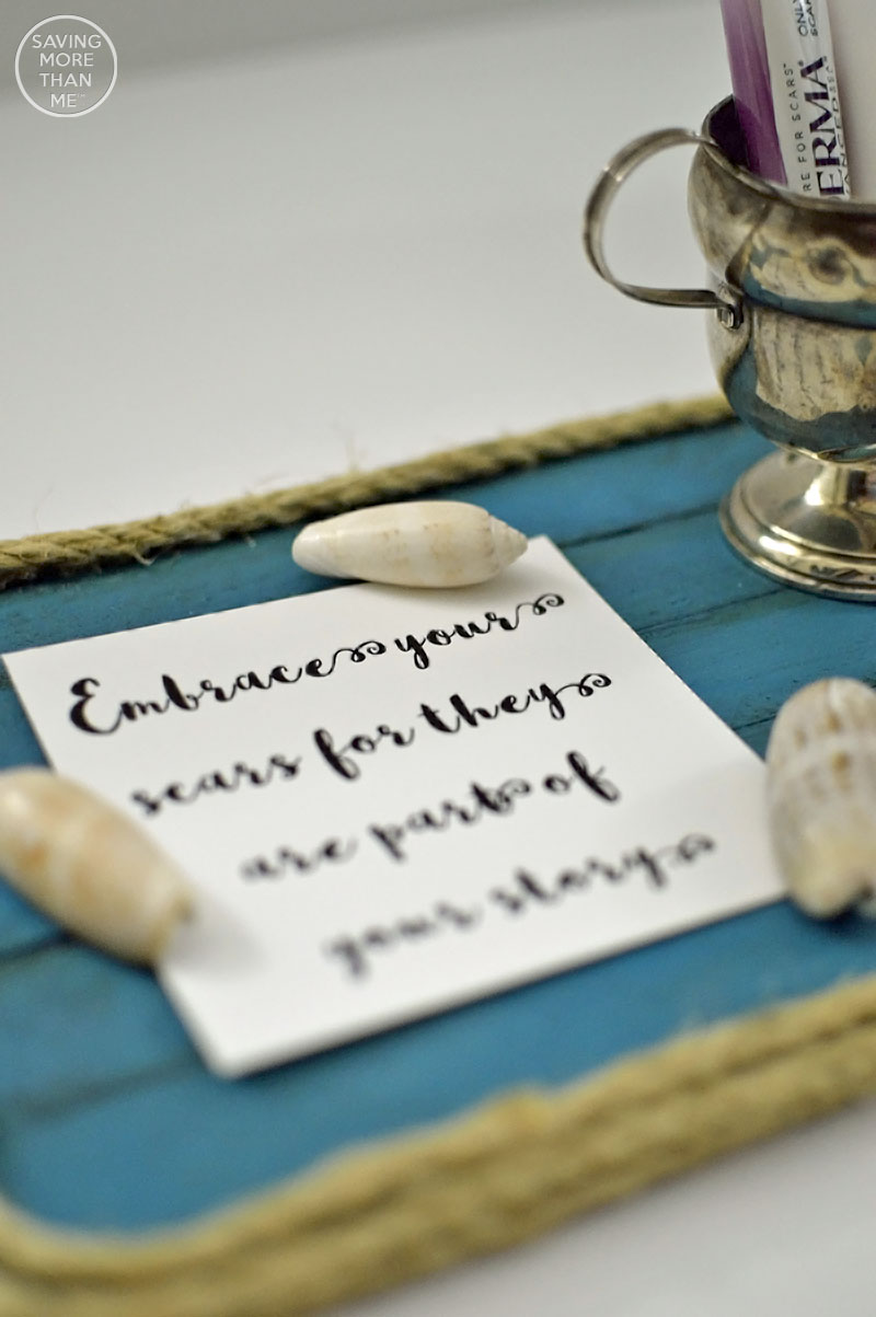 Nautical-Inspired Vanity Tray + Embrace Your Scars Printable #MyMederma (ad) @Mederma