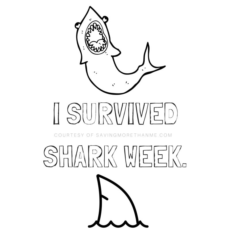 I survived shark week. 12 Shark-Inspired Fonts + I Survived Shark Week Printable #SharkWeek