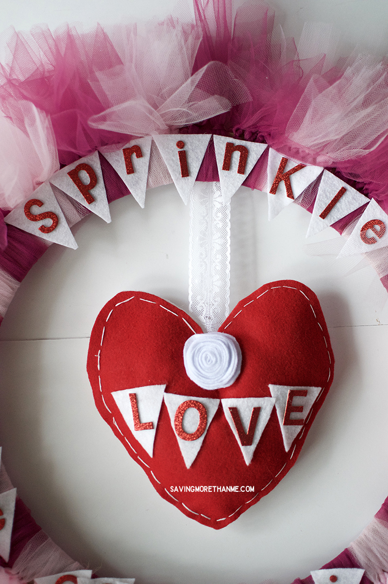 Sprinkle Love Like Confetti Valentine's Day Wreath (An Easy DIY)