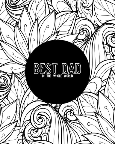 Six Free Father's Day Coloring Pages (Makes A Great Card)