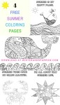 Four Free Summer Coloring Pages #summer