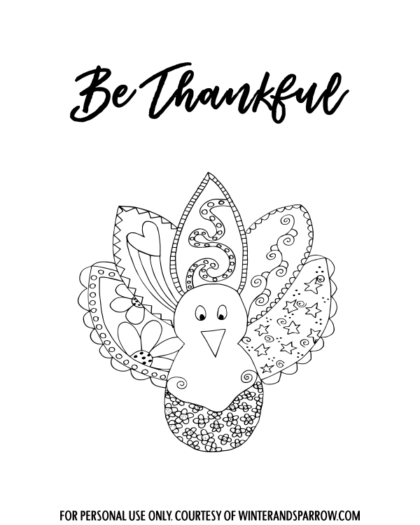 Thanksgiving Dinner Mishaps + Four Free Thanksgiving Coloring Pages winterandsparrow.com