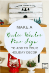 Make A Rustic Winter Pine Sign To Add To Your Holiday Decor