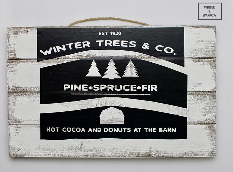 Make A Rustic Winter Pine Sign To Add To Your Holiday Decor #GladeHolidayCheer #ad