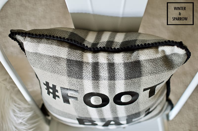 DIY: No-Sew Football Throw Pillow That's Machine Washable + Try Persil® ProClean® Laundry Detergent From Walmart® For Game Day Clean-Up. #ad #PersilTacklesLaundry winterandsparrow.com