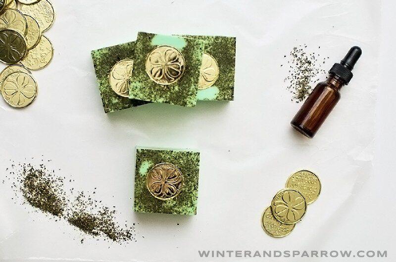 St. Patrick's Day Craft: Lucky Shamrock Soap winterandsparrow.com