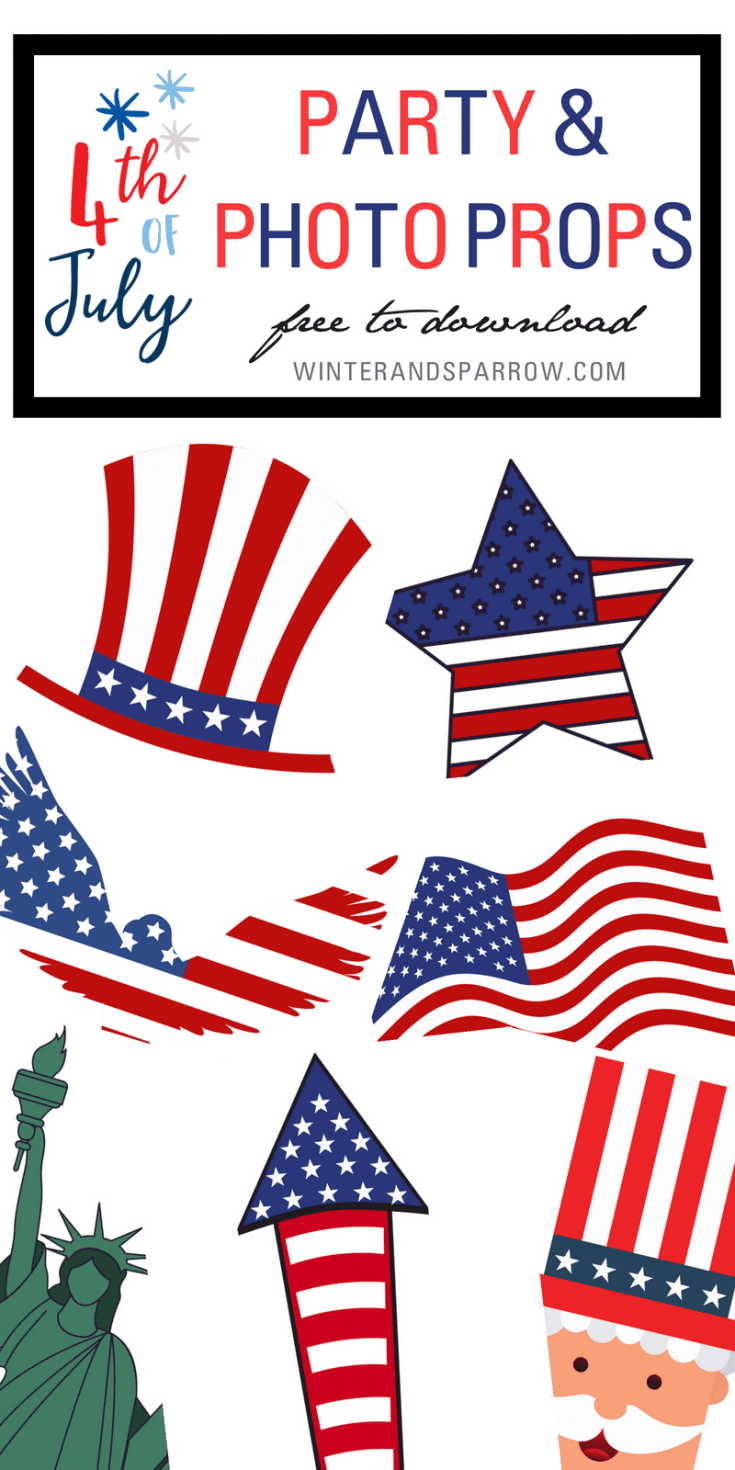 4th Of July Party and Photo Props (free download) Winter + Sparrow