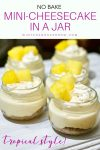 No Bake Mini Cheesecake In A Jar {Tropical Style}
