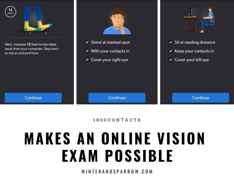 Save Time: Renew Your Contacts Prescription Online with an Online Vision Exam #ad @1800CONTACTS #ExpressExam | winterandsparrow.com #contactsprescription #contactsprescriptiononline