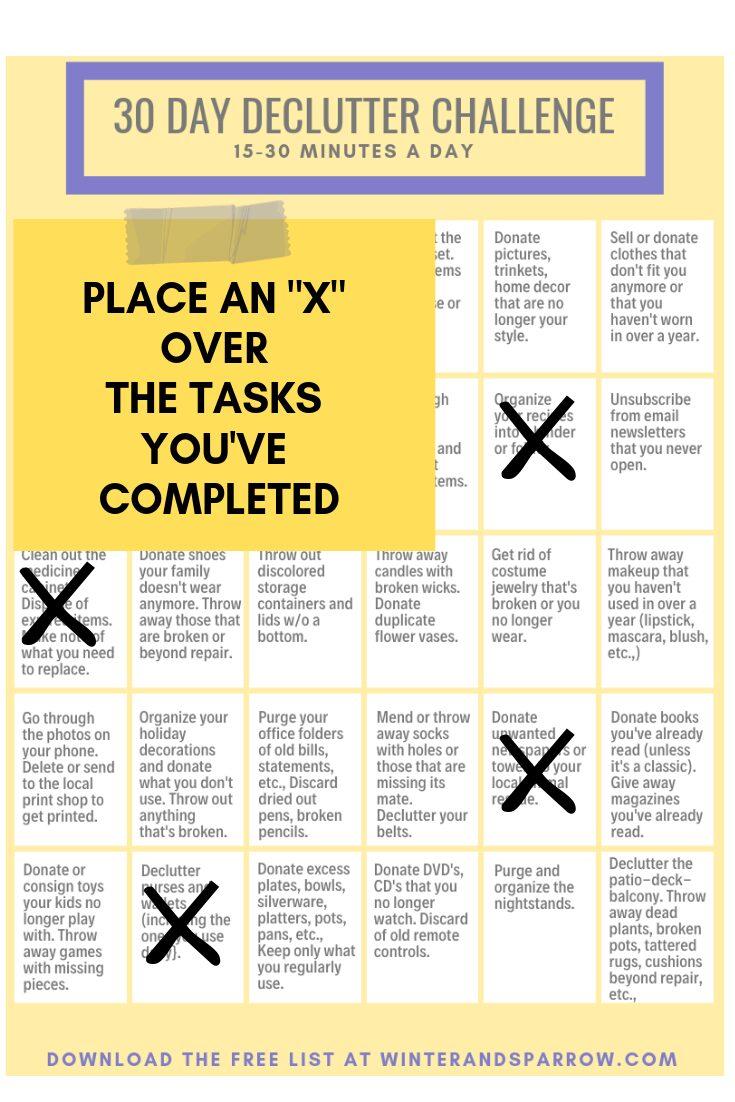 30-Day Declutter Challenge: 3 Reasons To Start Now | winterandsparrow.com #declutterchallenge #declutterchecklist #getorganized