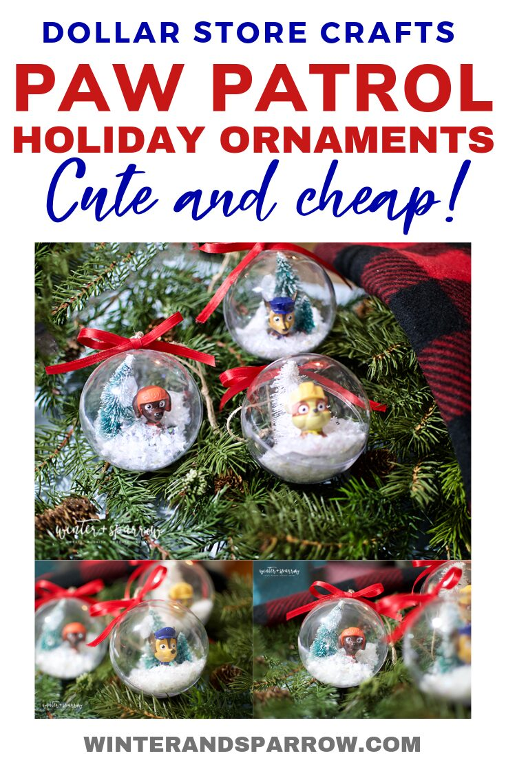 Dollar Store Crafts Paw Patrol Holiday Ornaments Totally