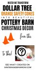 Watch Me Transform Dollar Tree Safety Cones Into Pottery Barn Inspired Christmas Decor