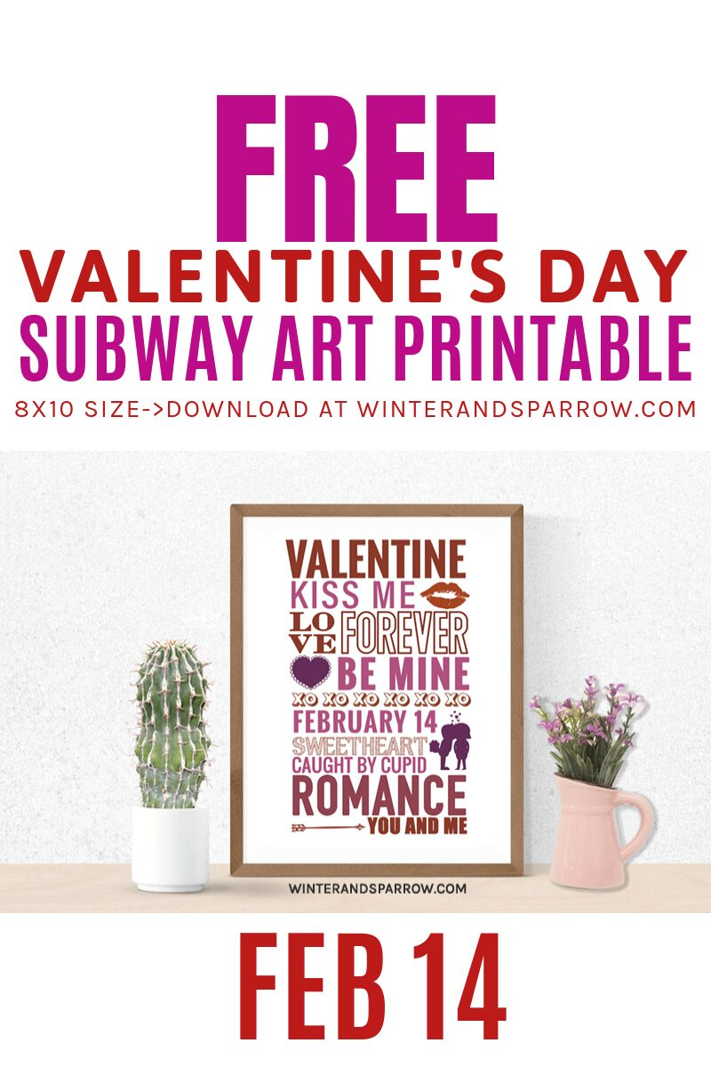Free Valentine's Day Subway Art Print + Photo Booth Props   winterandsparrow.com #valentinesdaysubwayart #subwayartprintable #valentinesdayphotoprops #valentinesdayphotobooth