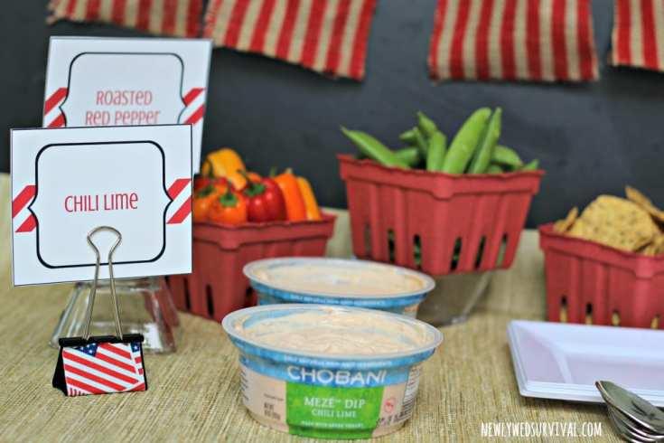 Easy DIY patriotic food labels