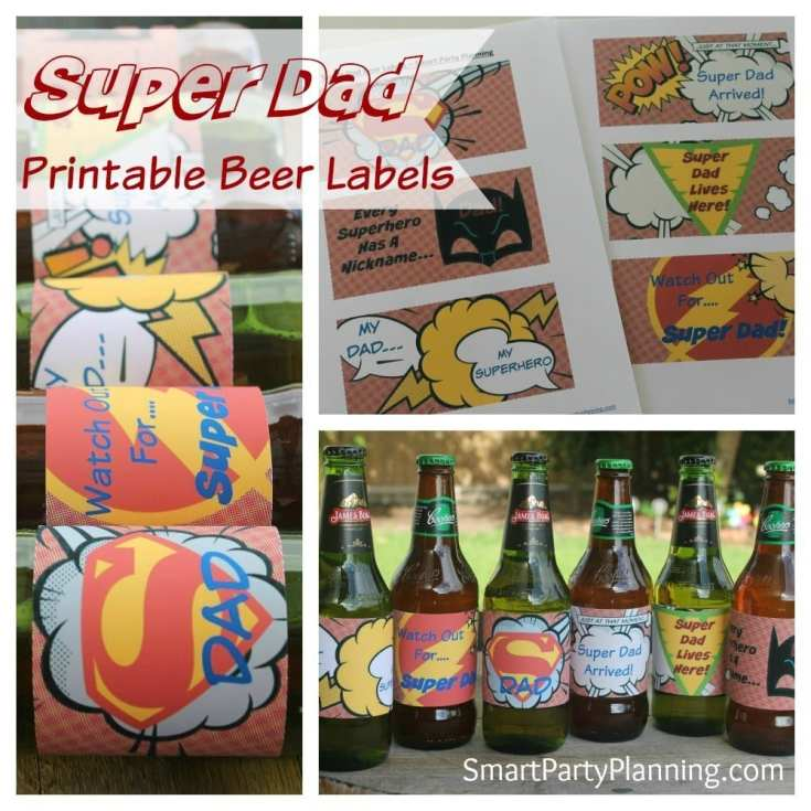 The Most Amazing Super Dad Printable Beer Labels