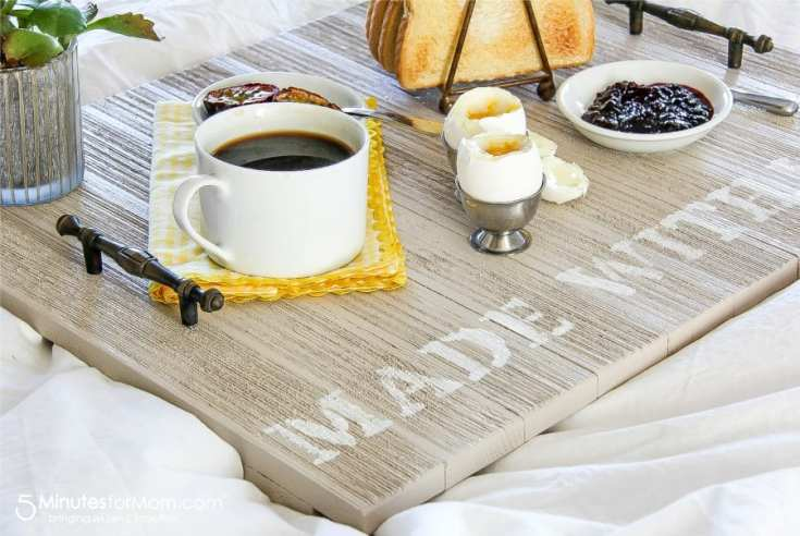 A Handmade Breakfast Tray For Dad - DIY Father's Day Gift