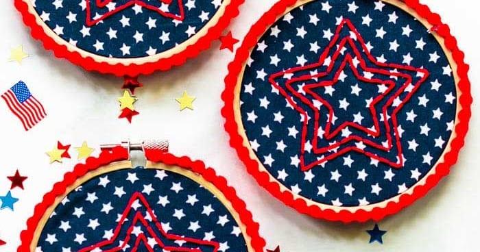 Free Star Pattern for Hoop Art