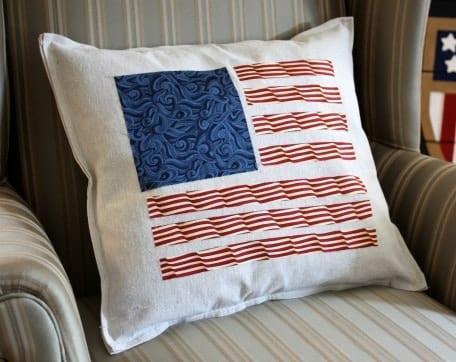 DIY Patriotic Pillow